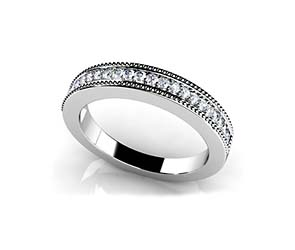 Millgrain Diamond Ring