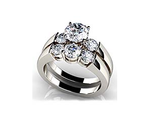 Triple Diamond Bridal Set