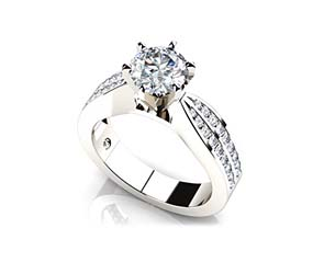 Elegant Six Prong Diamond Engagement Ring