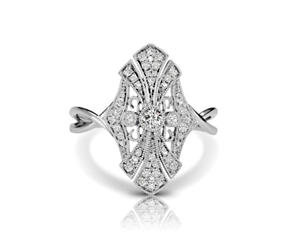 Diamond Cathedral Vintage Inspired Ring