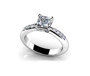 Princess Cut Diamond Channel Ring