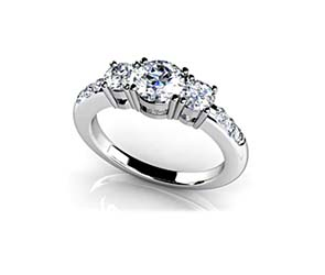 Nine Stone Diamond Engagement Ring