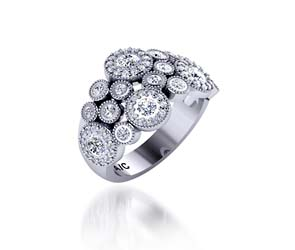 Designer Floral Wedding Ring