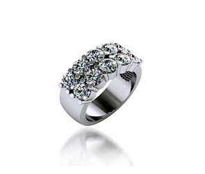 Diamond Double Row Wedding Ring