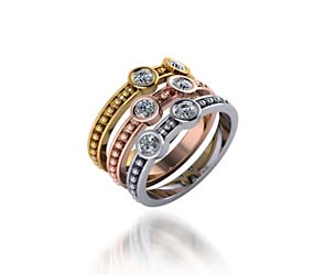 Stackable Beaded Collection Tri Color