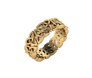 14K Gold Celtic Knot Eternity Band