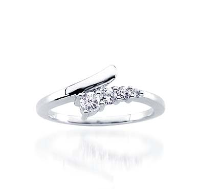 Journey Diamond Ring 1/4 Carat Total Weight