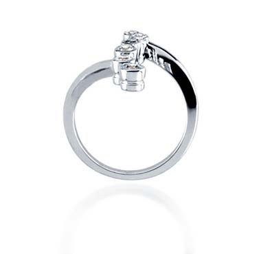Journey Bubble Diamond Ring 1/3 Carat Total Weight