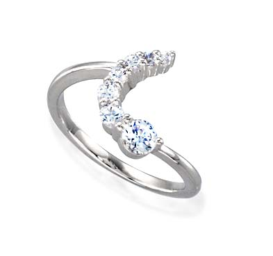 Journey Diamond Ring 3/8 Carat Total Weight