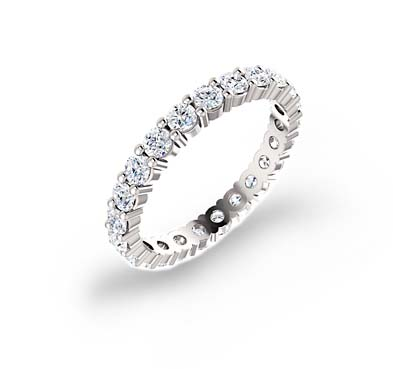 Round Diamond Eternity Band 3/4 Carat Total Weight
