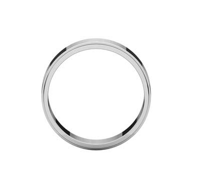 Flat Edge Wedding Band [164616] | USA Jewels