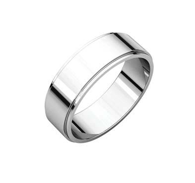Flat Edge Wedding Band [164616] | USA Jewels