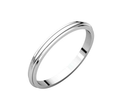 Half Round Edge Wedding Band [166548] | USA Jewels
