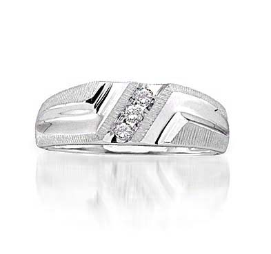 Mens Diamond Fashion Band 1/10 Carat Total Weight