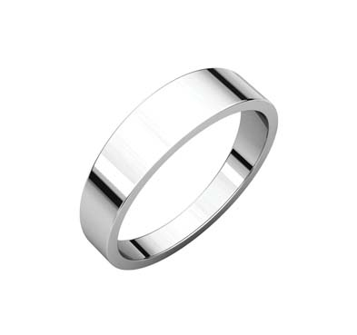 Ladies 2.5 mm Flat Tapered Wedding Band
