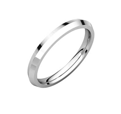 Knife Edge Comfort Wedding Band His And Her Matching