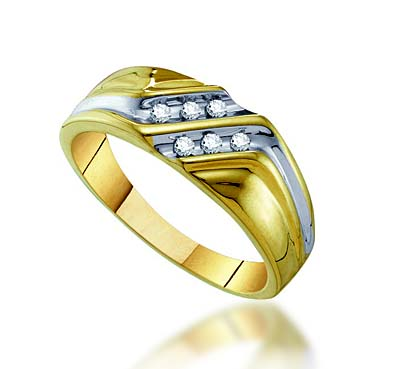 Double Row Channel Set Diamond Ring .12 Carat Total Weight