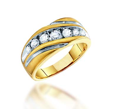 Mens Diamond Fashion Band 1.0 Carat Total Weight 1.00 Carat Total Weight