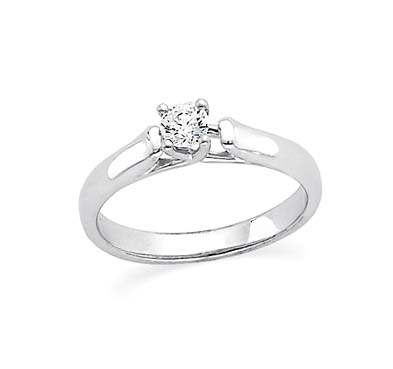 Diamond Solitaire Engagement Ring 1/4 Carat Total Weight