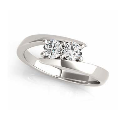 Diamond 2 Stone Ring 1/10 Carat Total Weight