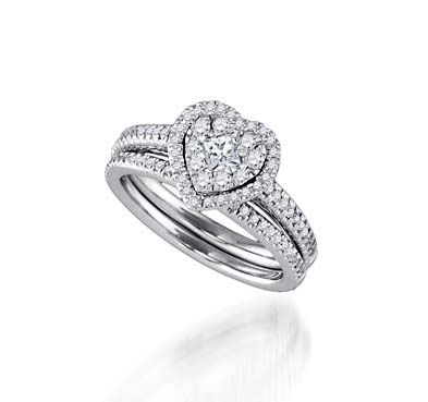 Diamond Fashion Bridal Set Ring 3/4 Carat Total Weight