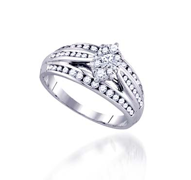Marquee Illusion Diamond Bridal Ring 5/8 Carat Total Weight