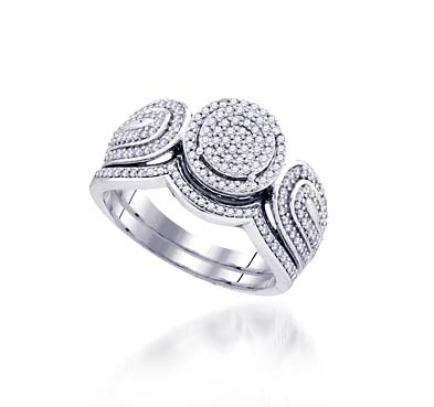 Micro Pave Diamond Vintage Ring 1/2 Carat Total Weight