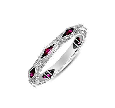 Ruby and Diamond Band 1.04 Carat Total Weight
