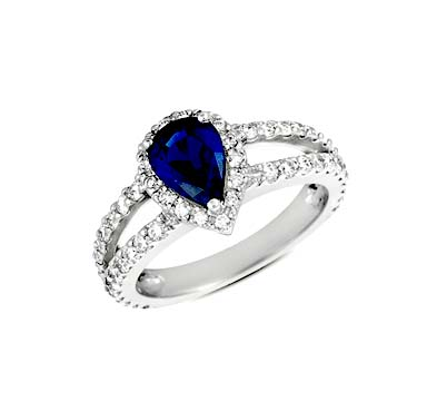 Sapphire & Diamond Ring 2.36 Carat Total Weight