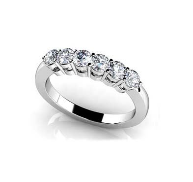 band anniversary seven wedding stone diamond carat bands ring