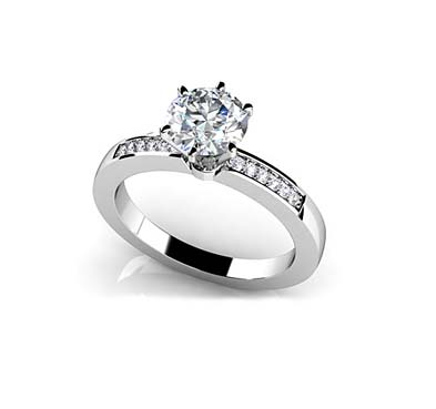 Diamond Accent Engagement Ring 5/8 Carat Total Weight