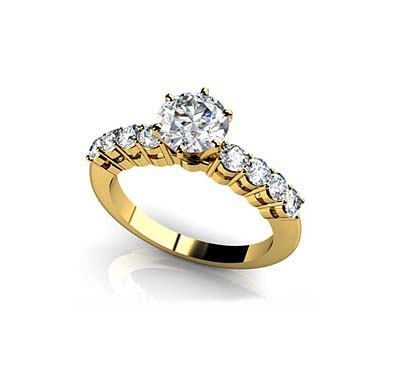 True Romance Diamond Engagement Ring 1.0 Carat Total Weight