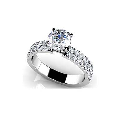 Sea of Diamonds Engagement Ring 1.0 Carat Total Weight
