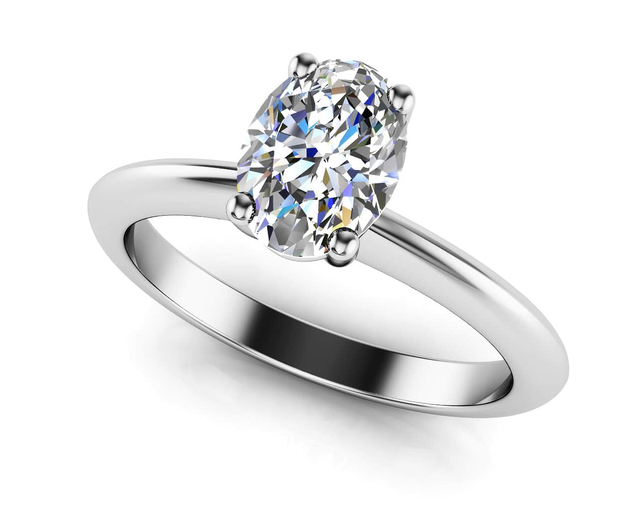 Love With No Limits Oval Solitaire Diamond Ring 5/8 Carat Total Weight