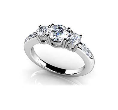 Nine Stone Diamond Engagement Ring [SR21] | USA Jewels