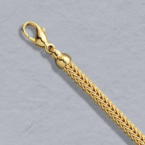 7-Inch 18K Yellow Gold Foxtailmesh 4.2mm, Lobster Clasp